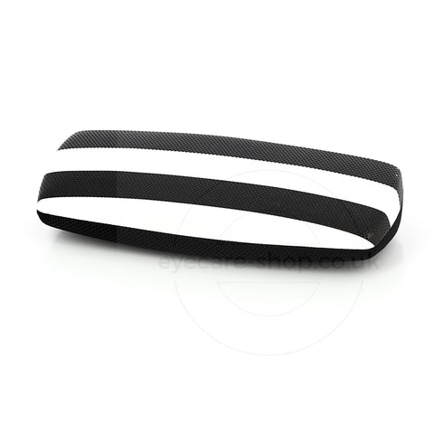 White Black Zebra Striped Spectacle Case