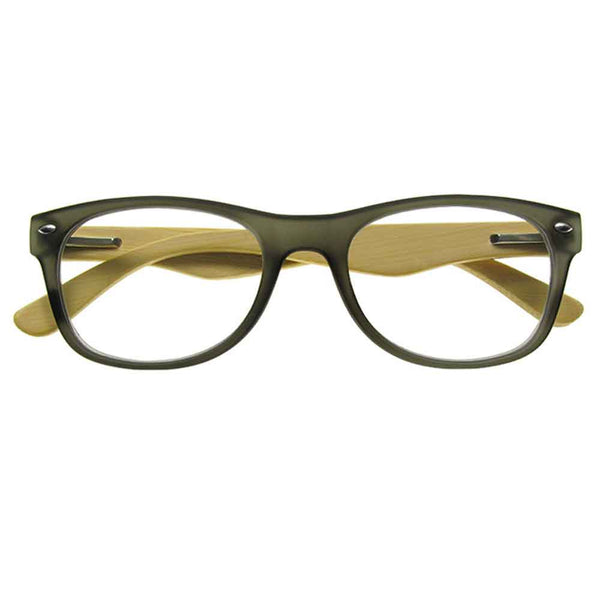 Reading Glasses - Unisex - Oakland - Bamboo / Grey