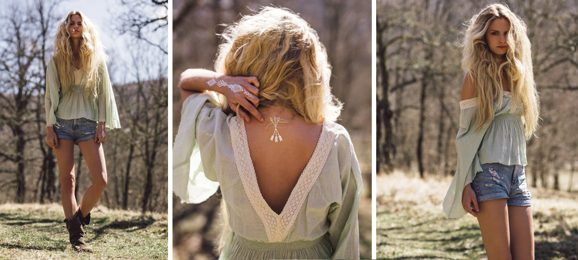 Boho chic lookbook collection by My Deva