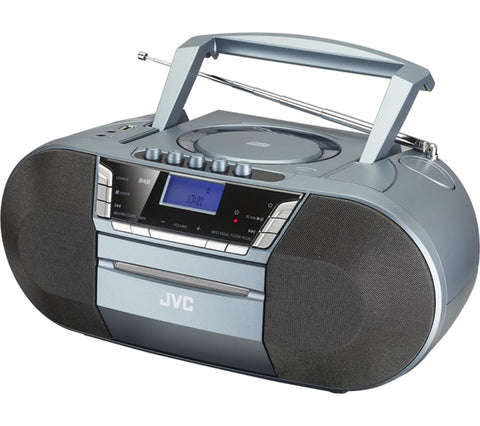 JVC RC-D327B DAB/FM, CD, Bluetooth and Cassette Boombox