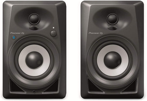 Pioneer DJ DM-40BT Bluetooth Studio Monitors, Black