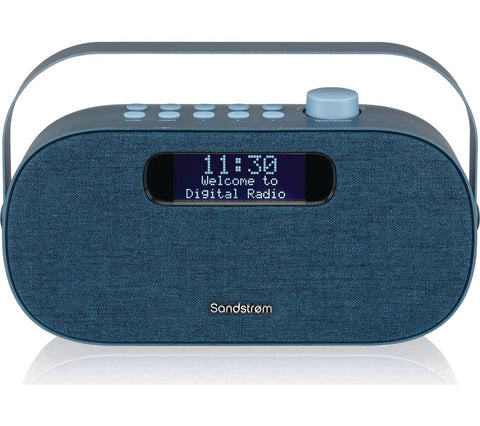 Sandstrom Portable DAB+/FM Bluetooth Alarm Clock Radio
