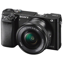 "Sony A6000 Compact Camera with 16-50mm OSS Lens, 24.3MP, 3"" Tilting Screen"