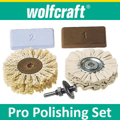 Wolfcraft Professional Polishing Set