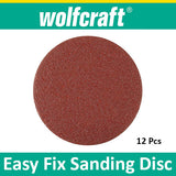 Wolfcraft Easy fix sanding discs corundum ø 125 mm