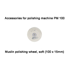 Muslin polishing wheel, soft (100 x 15mm) , PM 100 (28002)