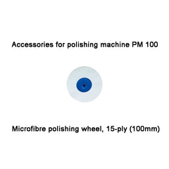 Microfibre polishing wheel, 15-ply (100mm) , PM 100 (28006)