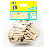Wolfcraft 2907000 Dowel pins beech ø8x40mm ( Pack of 150 )