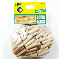 Wolfcraft 2909000 Dowel pins beech ø10x40mm ( Pack of 120 )