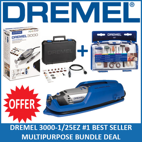 DREMEL NEW 3000-1/25EZ Multipurpose Bundle