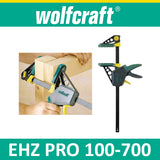 Wolfcraft EHZ PRO 100-700 One-hand clamps