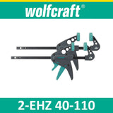Wolfcraft EHZ 40-110 - miniature x 2 one-hand clamps