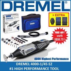 DREMEL 4000 Bundle ( with Dremel Chuck & Drill Bit Set )