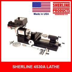 4500A/4530A 3.5 x 8-inch Lathe with Chucks and adjustable handwheels