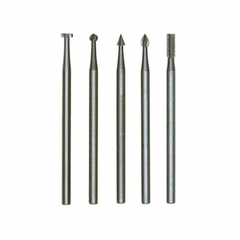 Tungsten Vanadium Milling Bits, 5 Pcs., Different Shapes