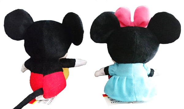 Disney Mickey Minnie Mouse 14cm Seated Soft Toys Plush Doll