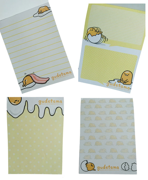 Sanrio Hello Kitty Gudetama Keroppi Memo Pad Notes Letter A6