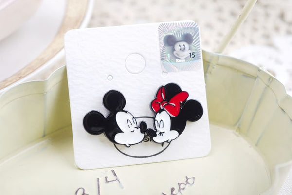 Disney Licensed Korea Mickey Minnie Donald Duck Olaf Stud Earrings