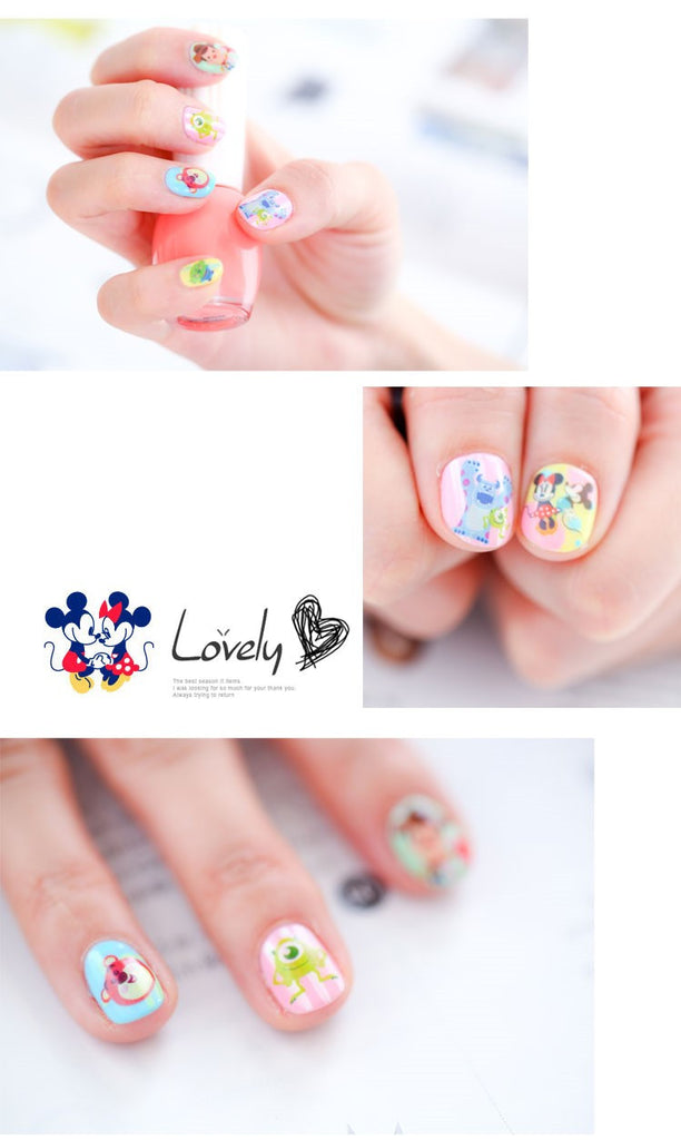 Disney Nail Stickers (Disney Princess/Alice/Toy Story/Monsters Inc)