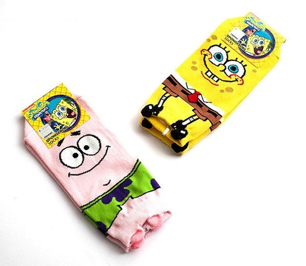 Made in Korea SpongeBob SquarePants Cute Short Socks (Adult)