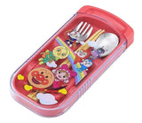 Japan Anpanman Personal Cutlery Set Fork & Spoon w Utensil Case