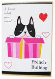 Cute Bulldog Happy Blessing Card (15x10.5cm)