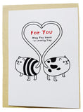 Cute Funky Animals Small Greeting Card (12.5x9cm)