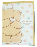 Bear&Flower Friendship Forever Big Size Greeting Card (26x19cm)