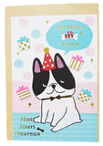 Cute Bulldog Best Wish For You Happy Blessing Card (13x9cm)