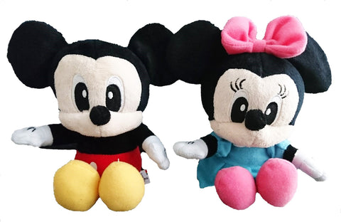 Disney Mickey Minnie Mouse 14cm Seated Soft Toy Plush Doll