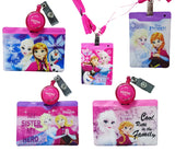 Disney Frozen Bling Bling Kids Ezlink Card Holders w/ Lanyard & Clips