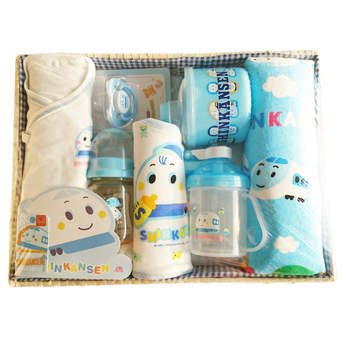 Trains Newborn Feeding Nursing Clothes Baby Shower Gift Hamper for Baby Boys