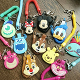 Disney Pixar Characters Cute Big Head Design Spring Keychain w Snap Hook
