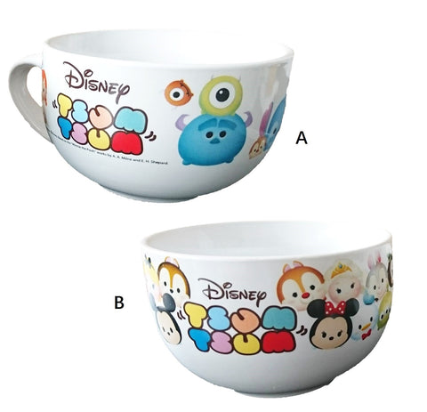 Disney Tsum Tsum Ceremic Big Bowl w handle