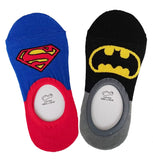 Superman Batman Cotton Liner Socks/ Hidden Socks (Adult)