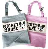 Korea Fashion Disney Licensed Mickey Mouse Tote Bags (Pink/Grey)