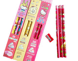 Sanrio Hello Kitty Rody Pompompurin Pencil+Sharpener Kids Stationery Gift Set