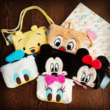 Disney Mickey Minnie Donald Daisy Winnie Cute Plush Sling Bag Smartphone Pouch