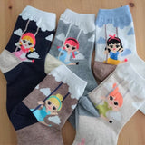 Made in Korea Disney Princess Cute Fashion Ankle Socks for Girls