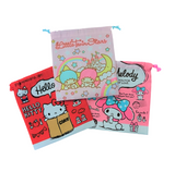 Japan Sanrio Hello Kitty Melody Kikilala Cloth Drawstring Pouch