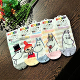 Made in Korea Striped Moomin Short Ankle Socks (Size: 22~26cm)