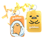 Sanrio Gudetama Lanyard Card Holder Coin Purse Zip Pouch