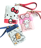 Japan Sanrio Hello Kitty Melody Gudetama Leather Wristlet Card Holder