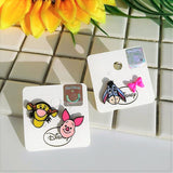 Korea Disney Licensed Piglet Tigger Eeyore Funky Stud Earrings Sets