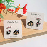 Korean Peko Poko Lollipop Cupcake Cute Stud Earrings Set of 3
