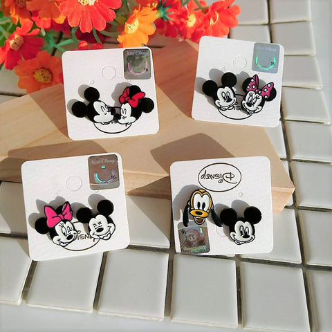 Korea Disney Licensed Mickey Mouse Minnie Mouse Stud Earrings