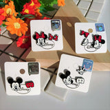 Korea Disney Licensed Mickey Mouse Minnie Mouse Stud Earrings Sets