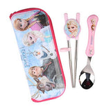 Disney Frozen Kids Training Chopsticks Spoon & Zipper Case Set