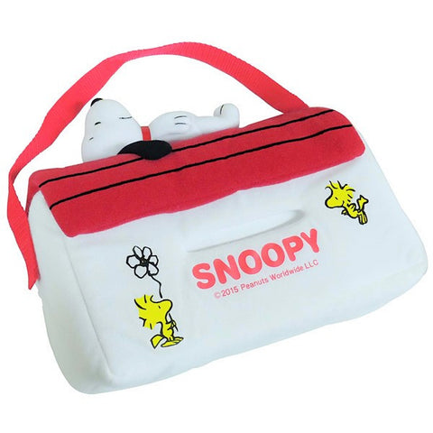 Peanuts Snoopy Tissue Box Case Holder (Vehicle & Indoor Use)