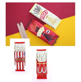 Cute Fun Pocky Popcorn Fries Snacks Design Pencils Case Pouch